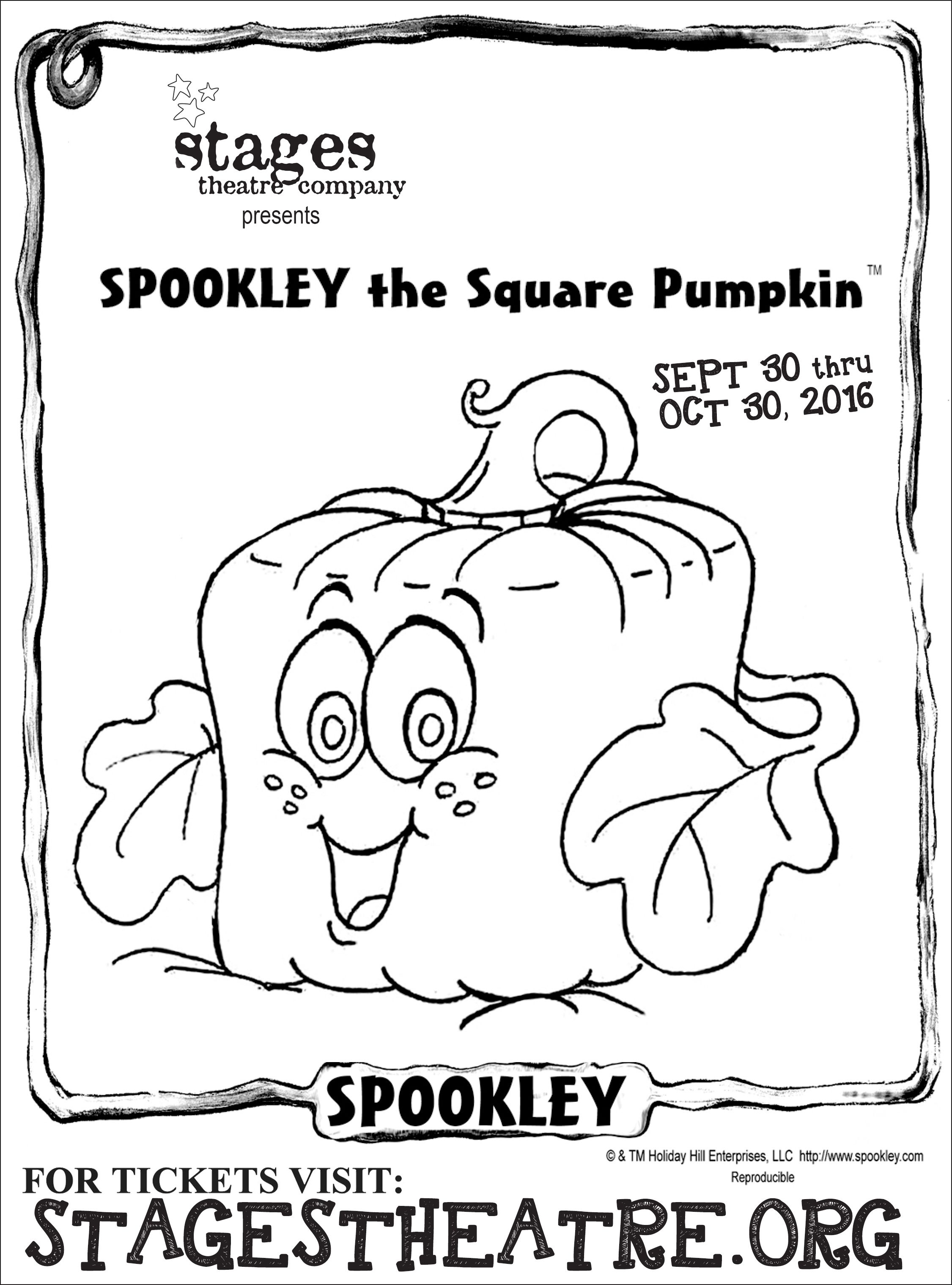 Spookley the Square Pumpkin Coloring Pages - Coloring Sheet for Spookley the Square Pumpkin