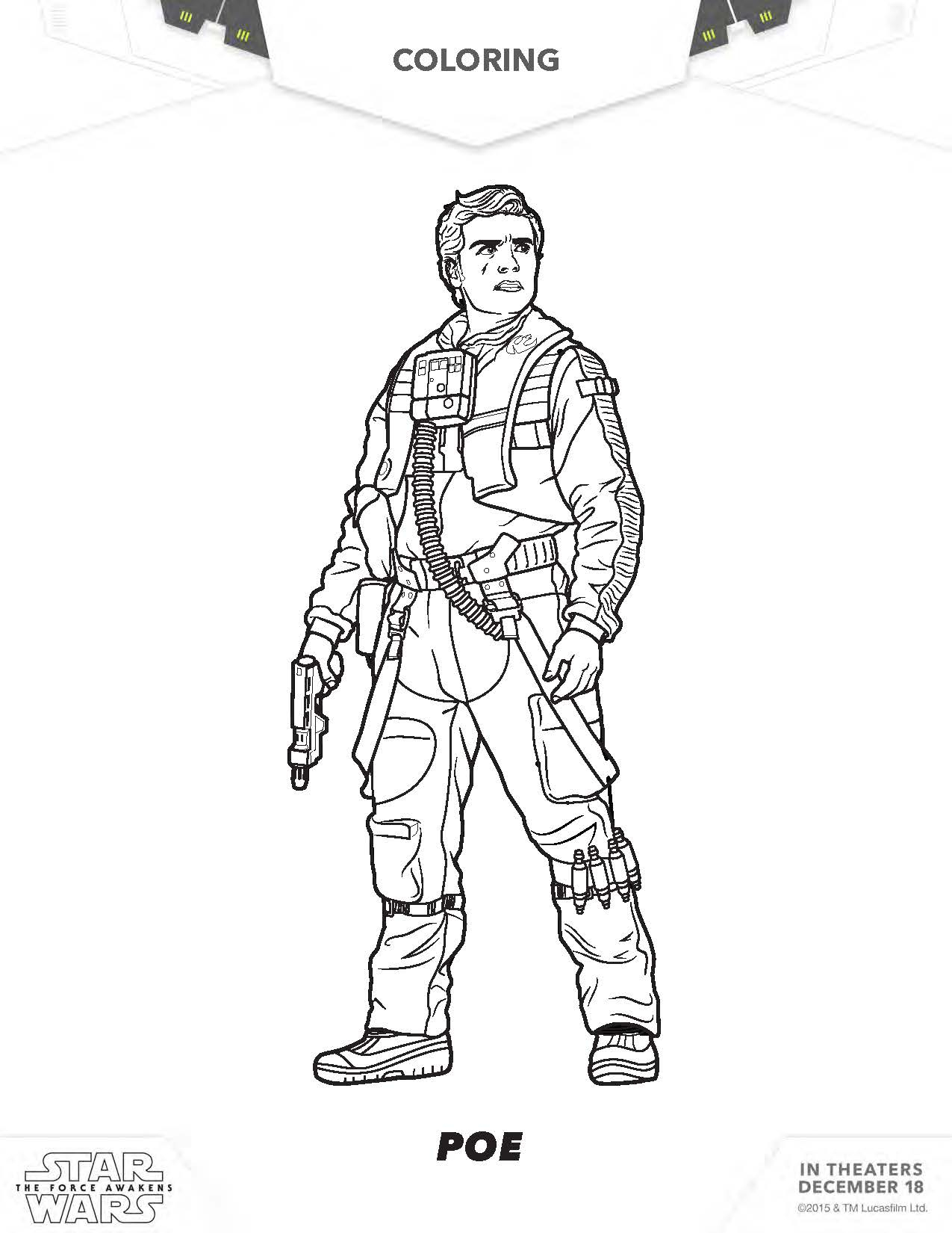 Star Wars the force Awakens Coloring Pages  Printable 11p - To print for your project