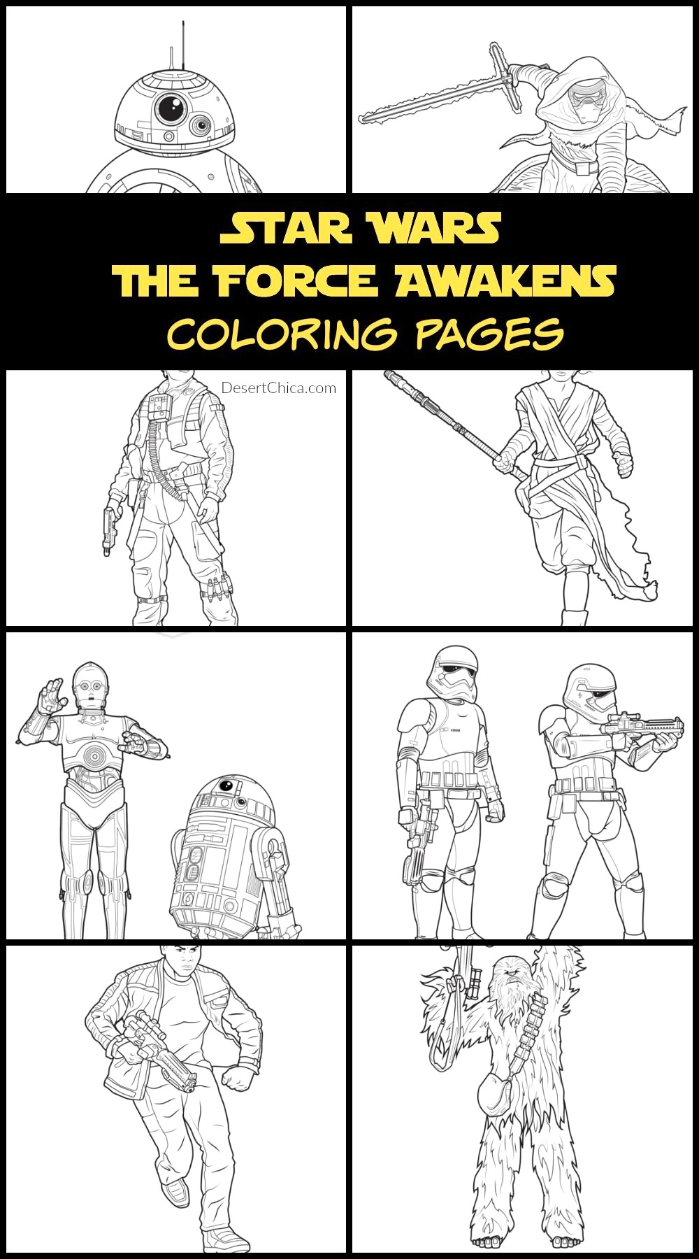 Star Wars the force Awakens Coloring Pages  Printable 1r - To print for your project