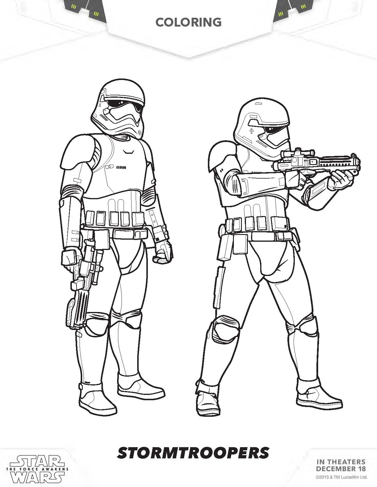Star Wars the force Awakens Coloring Pages  Printable 14s - Free Download