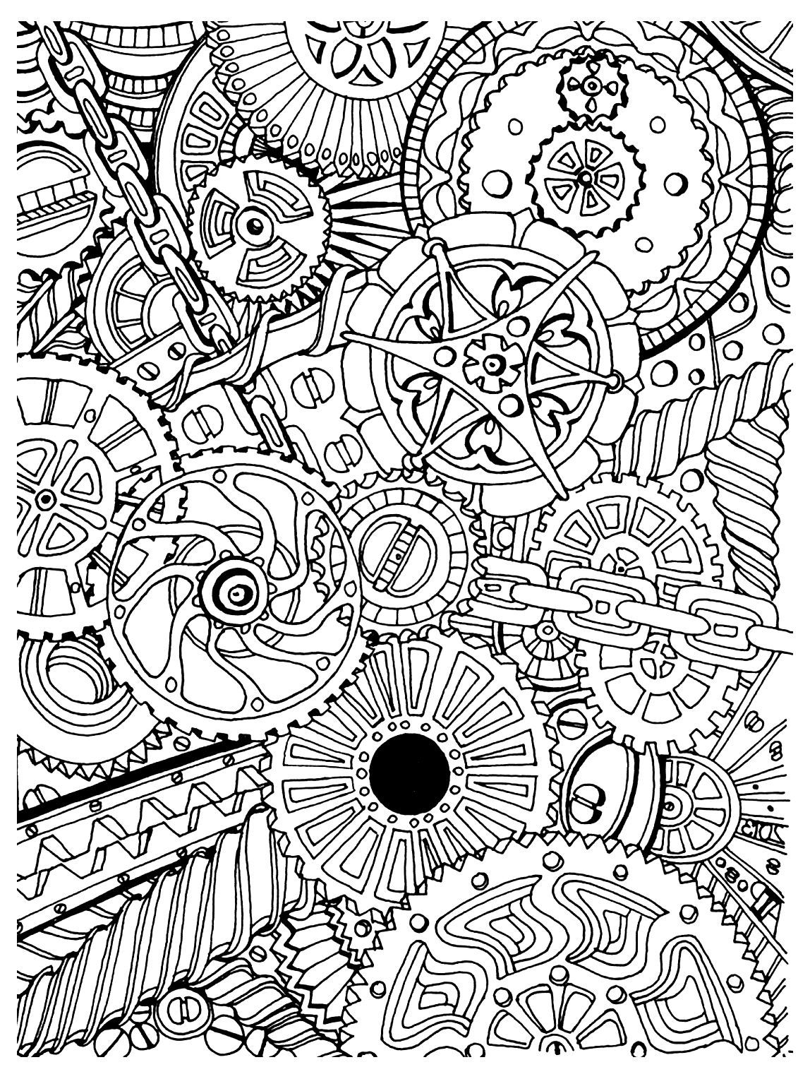 Steampunk Gears Coloring Pages  Gallery 17s - To print for your project