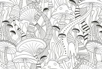 Steampunk Gears Coloring Pages - Mushrooms Coloring Page for Adults Crafting Style