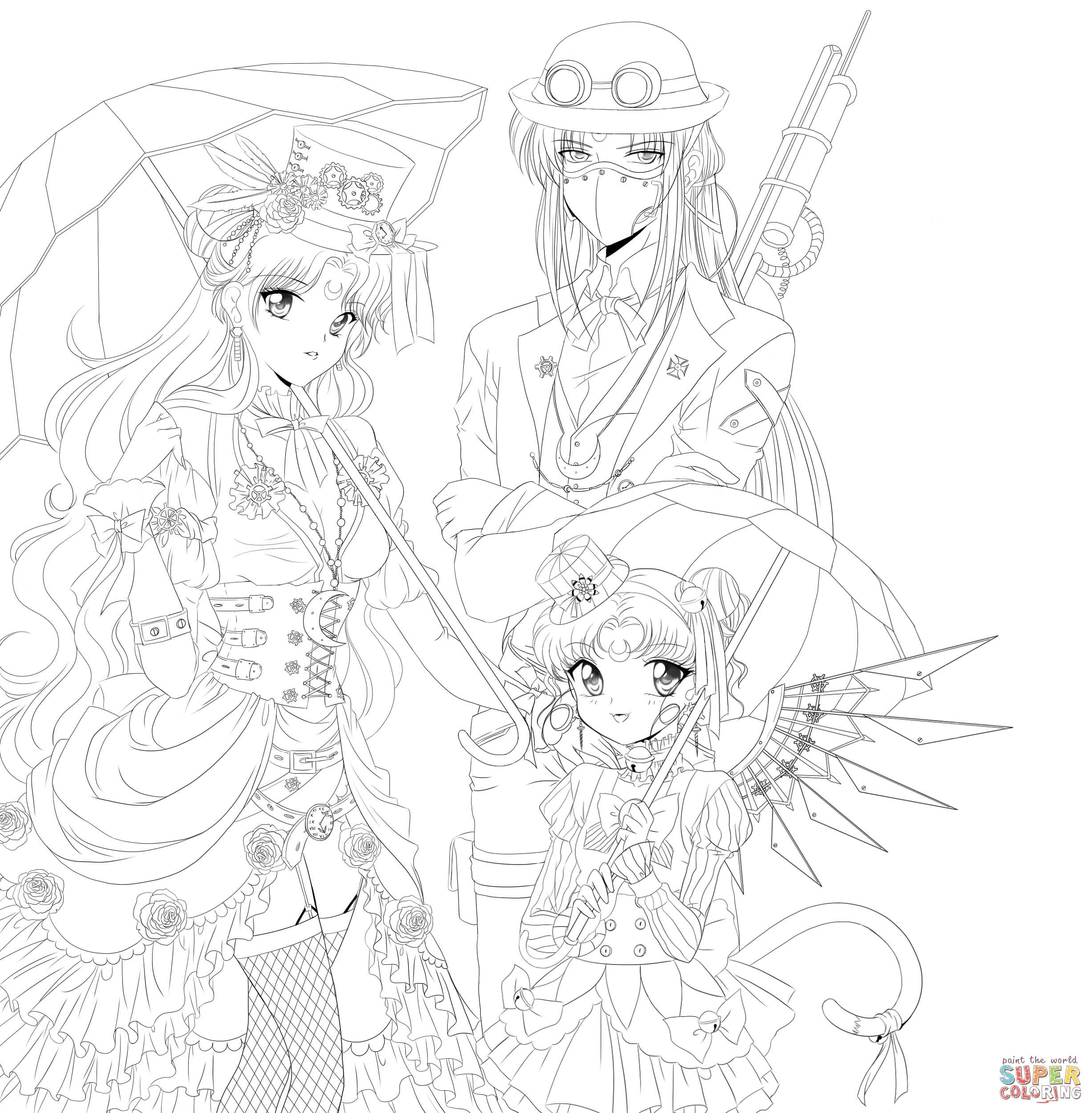 Steampunk Gears Coloring Pages  Gallery 1r - Free For kids