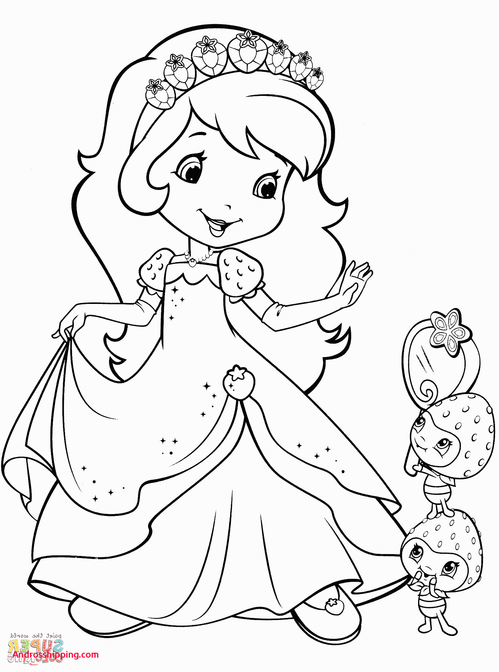 Strawberry Shortcake Coloring Pages  Printable 20q - Save it to your computer