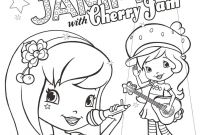 Strawberry Shortcake Coloring Pages - Cherryjam Coloringpage V1 8p6 source with Strawberry Shortcake Color
