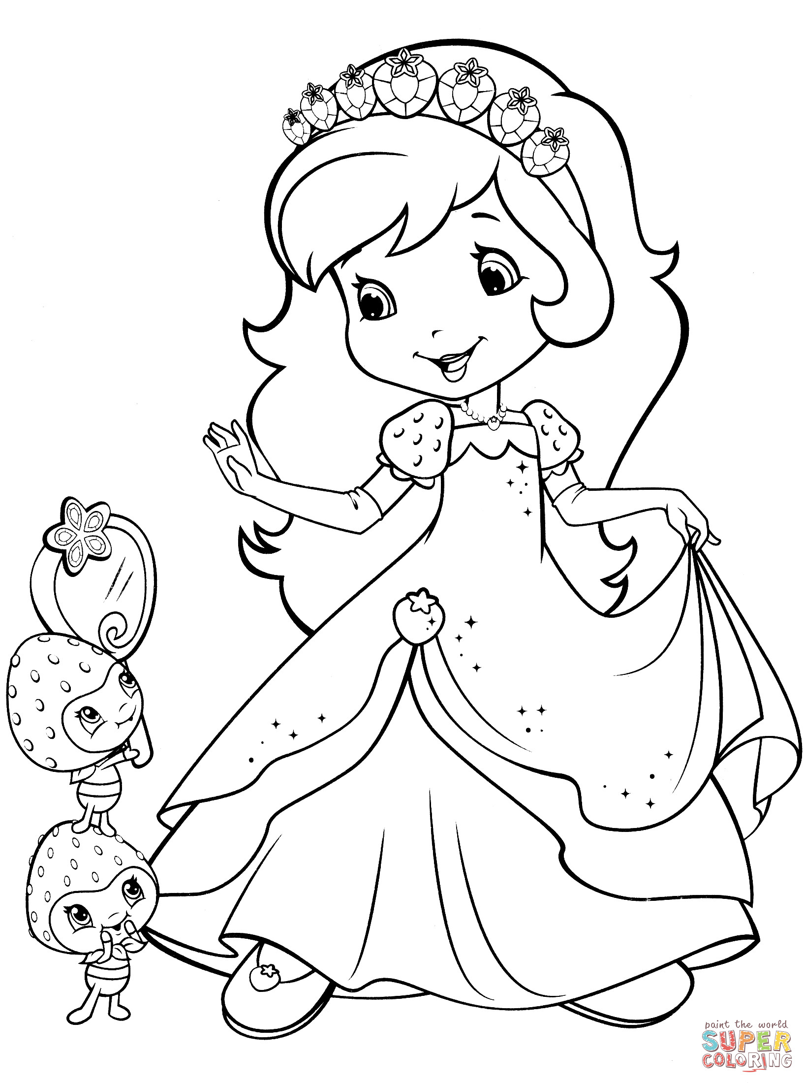 Strawberry Shortcake Coloring Pages  Printable 8a - Free For Children