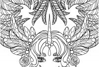 Sugar Skull Coloring Pages Pdf Free Download - 10 Crazy Hair Adult Coloring Pages Coloring Pages