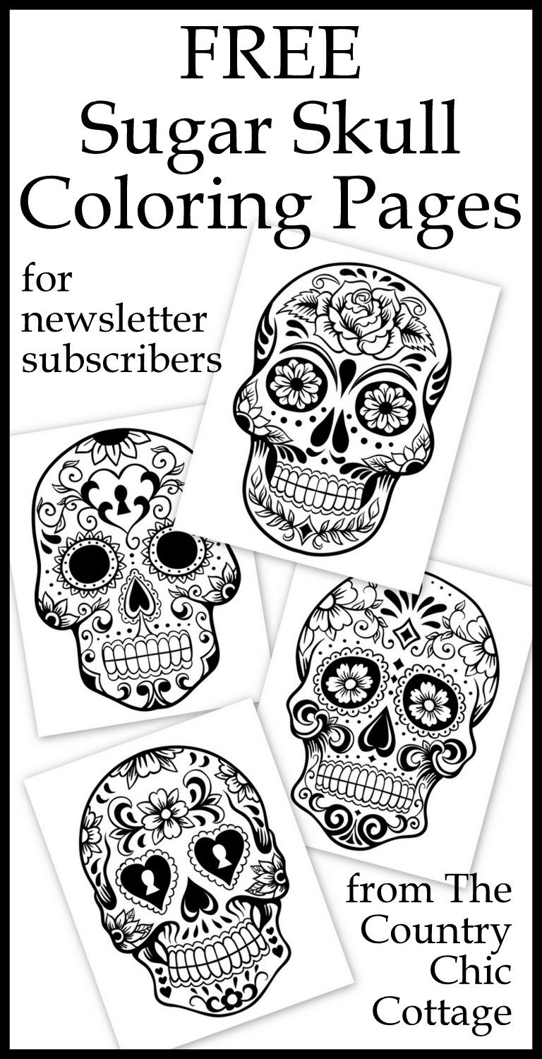 Sugar Skull Coloring Pages Pdf Free Download  Download 14i - To print for your project