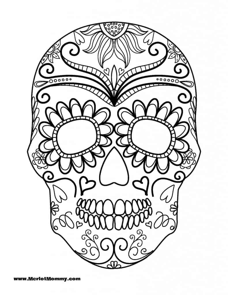Sugar Skull Coloring Pages Pdf Free Download  Download 11b - Free For Children