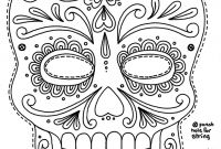 Sugar Skull Coloring Pages Pdf Free Download - Free Printable Character Face Masks