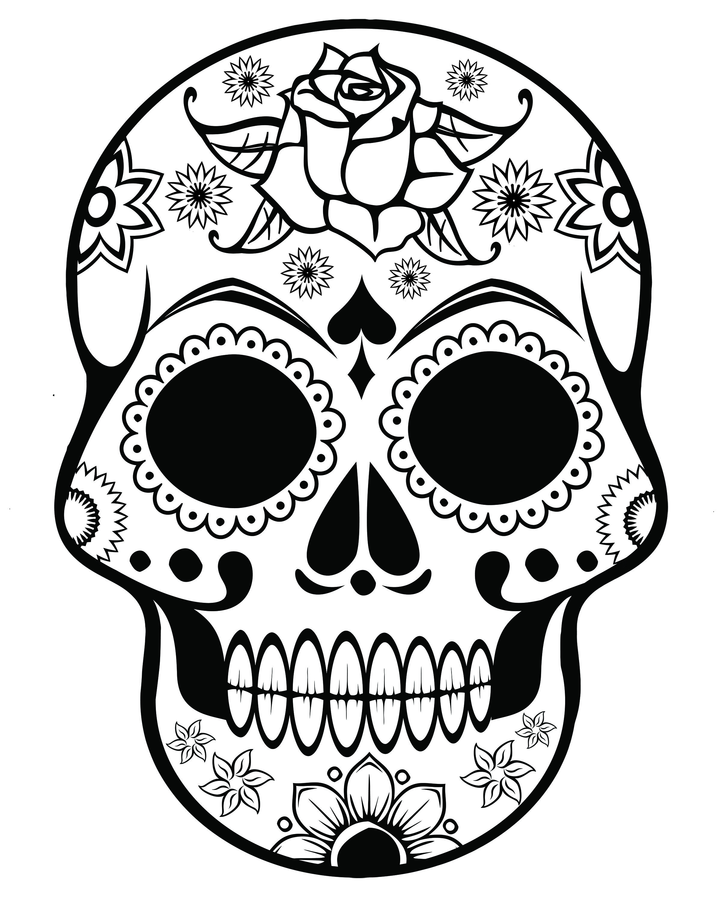 Sugar Skull Coloring Pages Pdf Free Download  Download 8q - Free Download