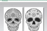 Sugar Skull Coloring Pages Pdf Free Download - Sugarskullcoloringpages Hash Tags Deskgram