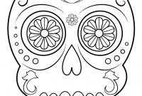 Sugar Skull Coloring Pages Printable Free - Sugar Skull Coloring Pages Best Sugar Skull Printables Free
