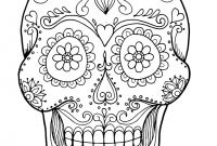 Sugar Skull Coloring Pages Printable Free - Sugar Skulls Coloring Pages Collection