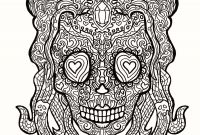 Sugar Skull Girl Coloring Pages - Day the Dead Color Pages Girl Sugar Skulls Coloring Pages