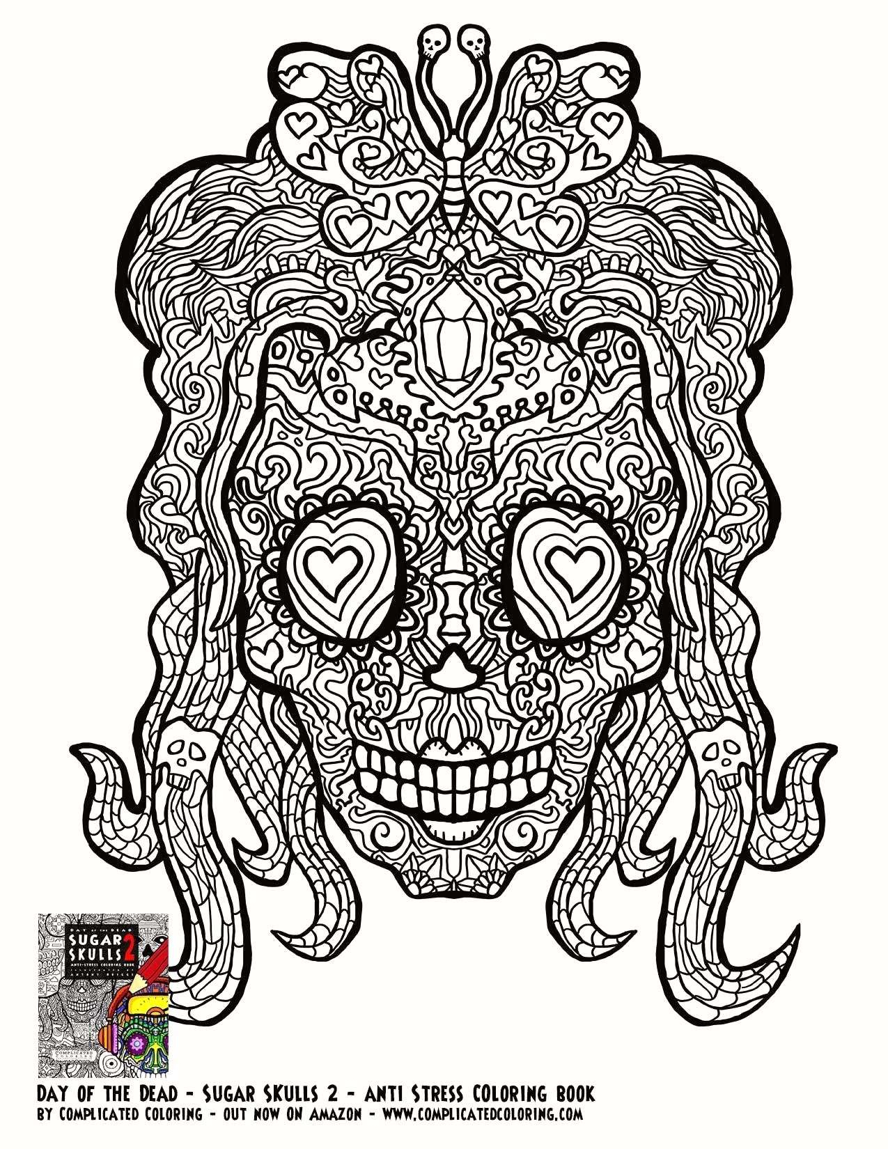 Sugar Skull Girl Coloring Pages  Collection 3h - Save it to your computer