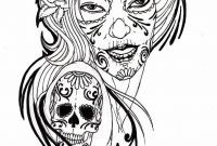 Sugar Skull Girl Coloring Pages - Free Free Skull Tattoo Designs to Print Download Free Clip Art