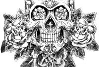 Sugar Skulls Coloring Pages Free - Adult Coloring Pages Abstract Skull Free Coloring Library
