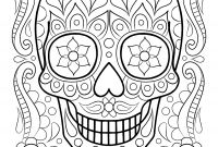 Sugar Skulls Coloring Pages Free - Free Sugar Skull Coloring Page Printable Day the Dead Coloring