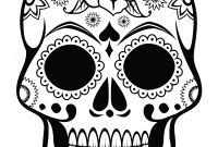Sugar Skulls Coloring Pages Free - Sugar Skull Coloring Page Az Coloring Pages