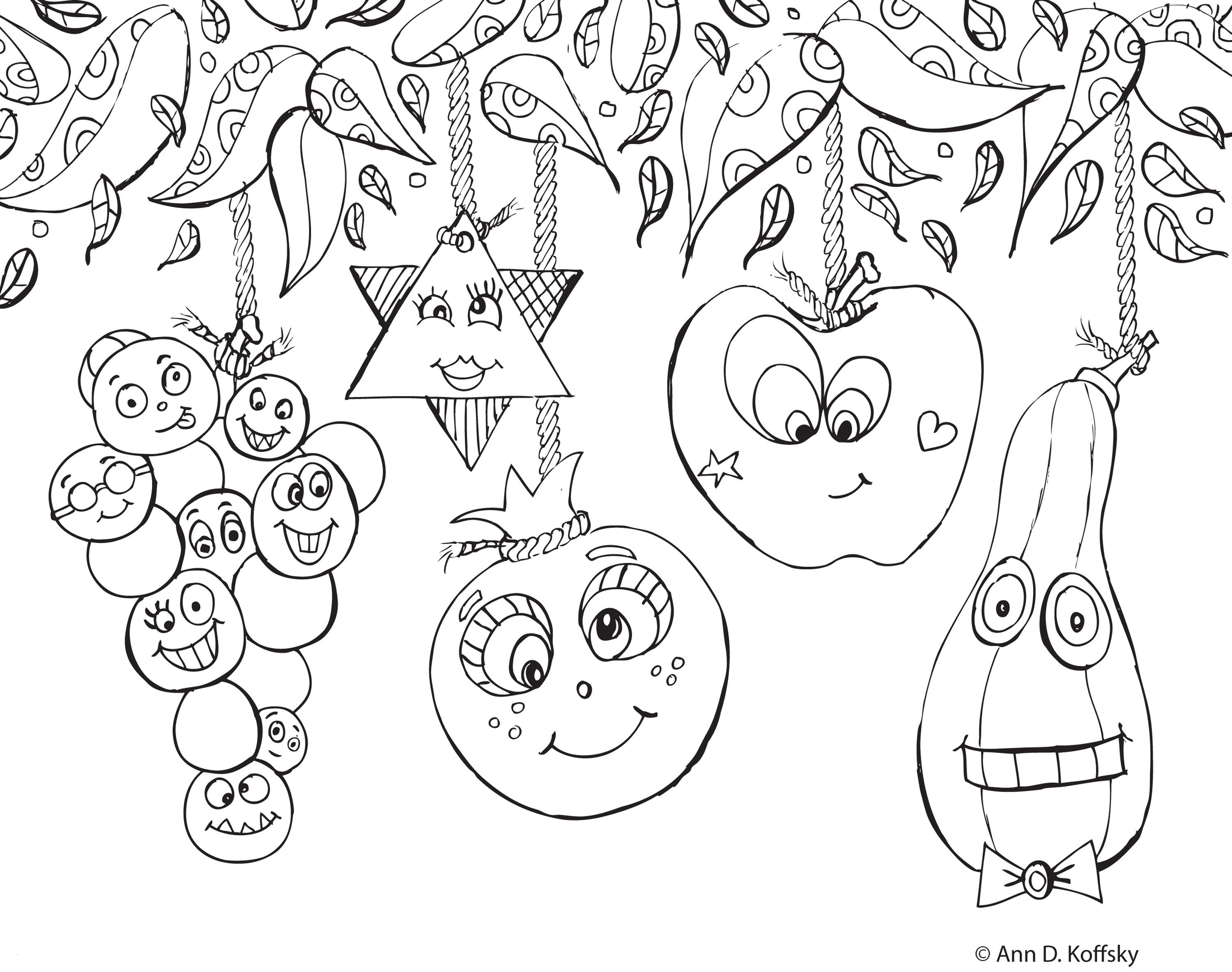 Sukkot Coloring Pages  Printable 5r - Free For Children