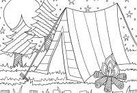 Summer Reading Coloring Pages - Camping Coloring Page for the Kids Daisy Scout Ideas