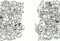 Super Smash Bros Coloring Pages - 20 Super Smash Bros Coloring Pages