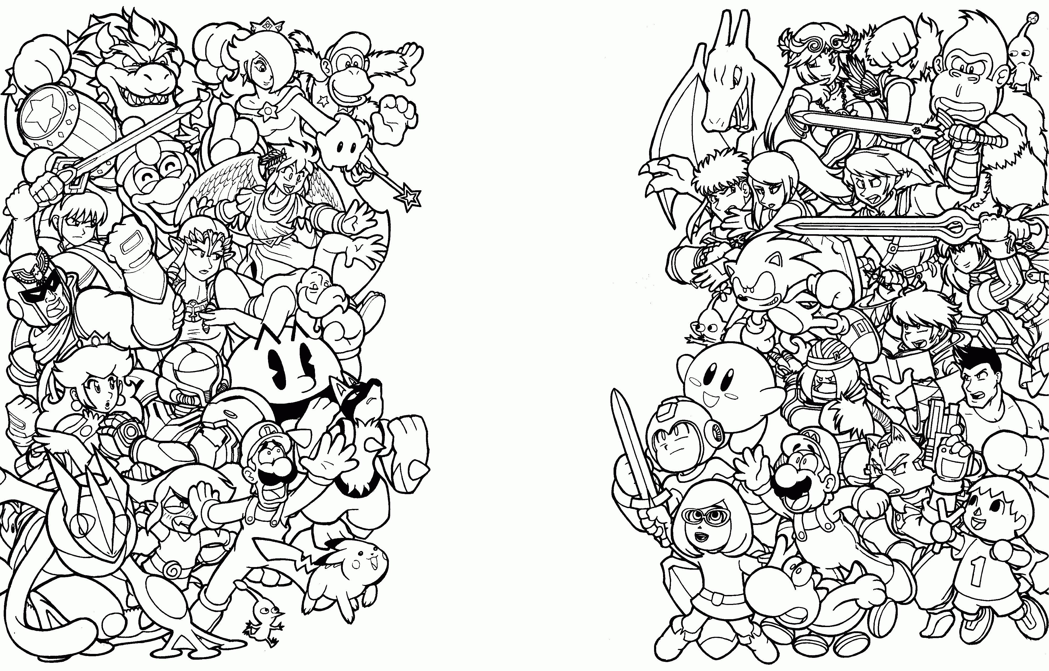 Super Smash Bros Coloring Pages  to Print 4b - Save it to your computer