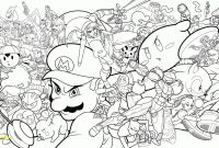 Super Smash Bros Coloring Pages - Mario Brothers Coloring Pages Save Super Mario Brothers Coloring