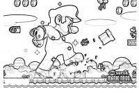 Super Smash Bros Coloring Pages - New Mario Bros 2 Coloring Pages