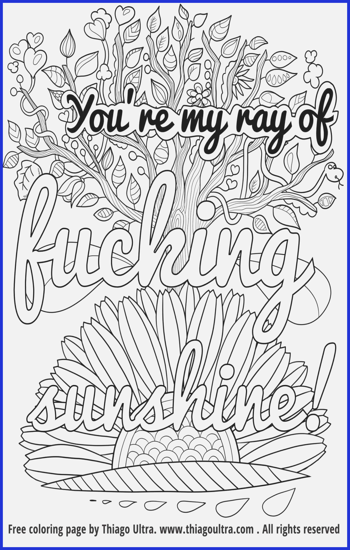 Sweary Coloring Pages  Printable 5g - Save it to your computer