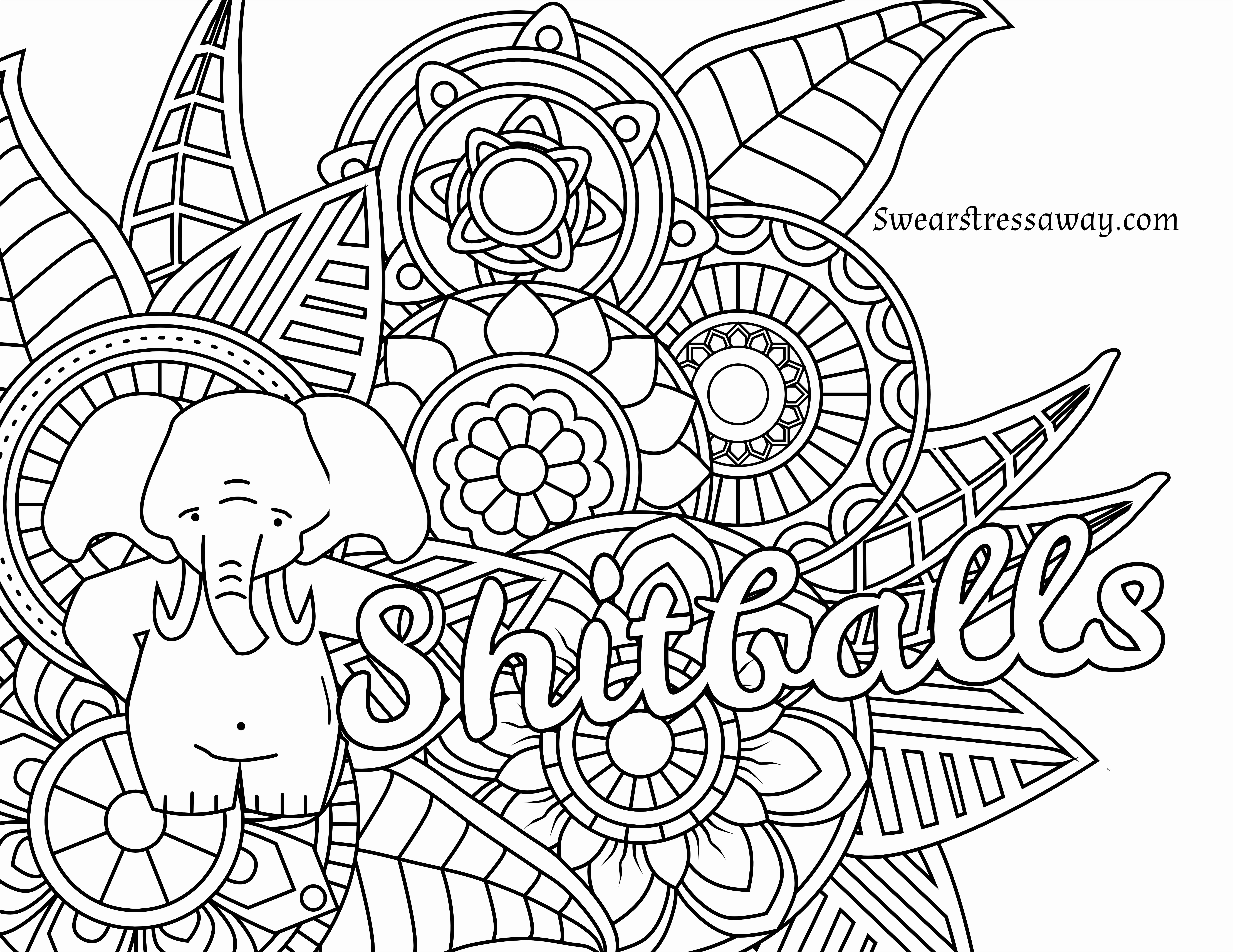 Sweary Coloring Pages  Printable 18i - Free Download