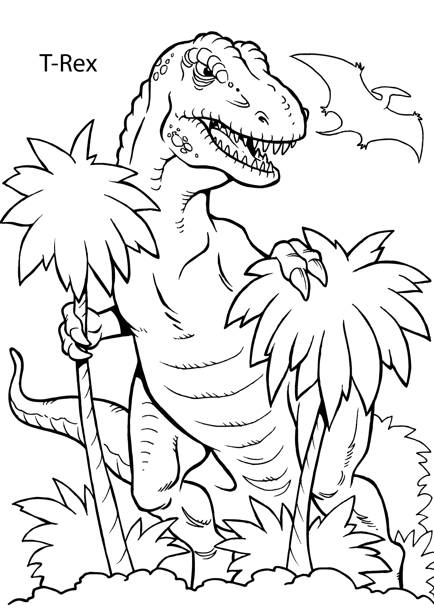T Rex Coloring Pages  Collection 10b - To print for your project