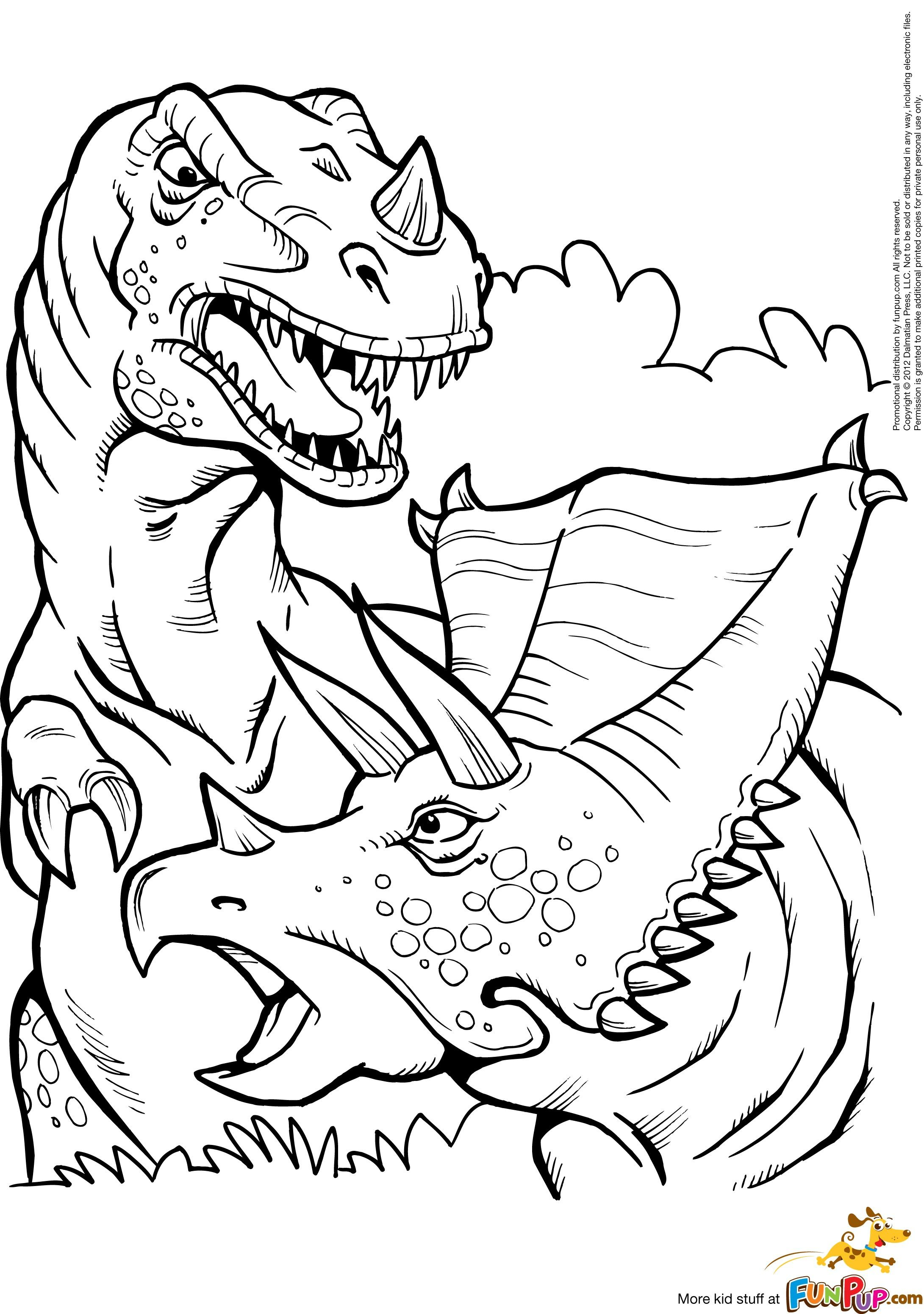 T Rex Coloring Pages  Collection 4h - Free For kids