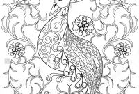Tattoo Coloring Book Pages - Coloring Page Bird Flowers Zentangle Illustartion Stock Vector
