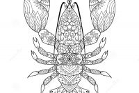Tattoo Coloring Book Pages - Lobster Line Art Stock Vector Illustration Of Illustration