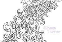 Tattoo Coloring Pages - Realistic Peacock Coloring Pages Free Coloring Page Printable