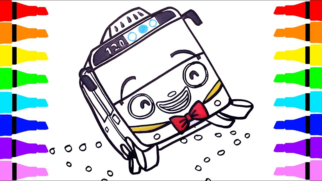 Tayo the Little Bus Coloring Pages  Download 4i - Free For Children