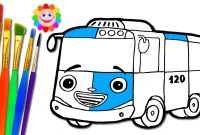 Tayo the Little Bus Coloring Pages - Little Kinder Club Coloring for Kids Gaming