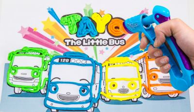 "Tayo the Little Bus Coloring Pages - Tayo the Little Bus Play Doh Vinci ƒ€ìš"" 꼬마버스 ƒ€ìš"" 장난감 тайо"