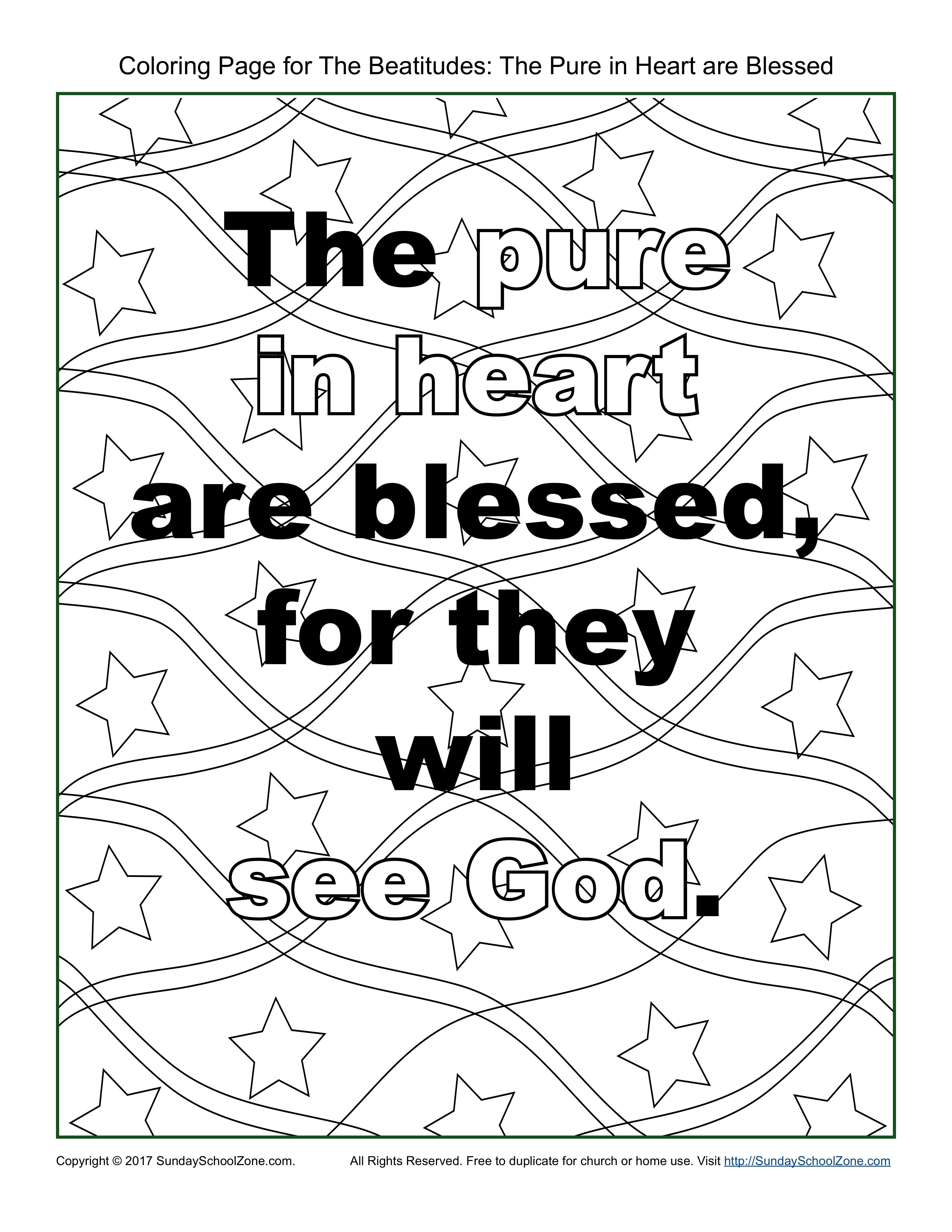 The Beatitudes Coloring Pages  Download 10b - To print for your project