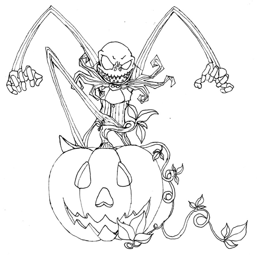 The Nightmare before Christmas Coloring Pages  to Print 2k - Free For Children