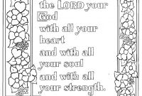 The Ten Commandments Coloring Pages Printable - Deuteronomy 6 5 Bible Verse to Print and Color This is A Free