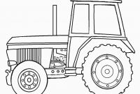 Tractor Coloring Pages to Print - Cute Cartoon Tractor Coloring Page for Kids Transportation Coloring