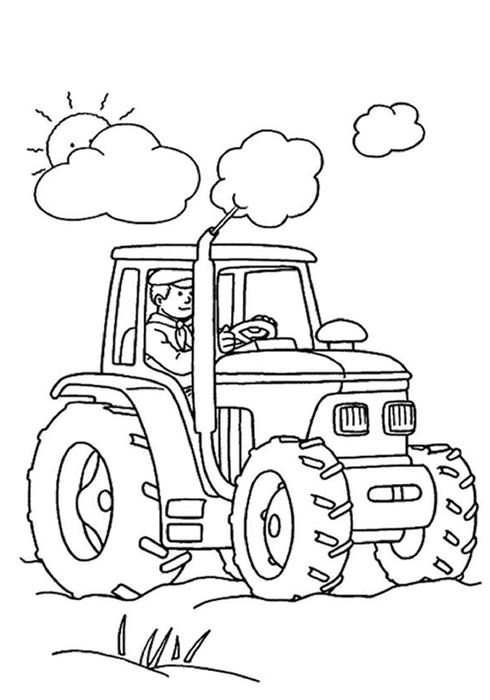 Tractor Coloring Pages to Print  Printable 13c - Free For kids