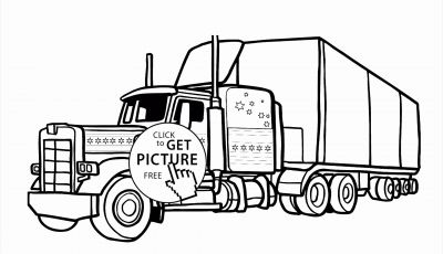 Tractor Trailer Coloring Pages - Tractor Trailer Coloring Pages Truck and Trailer Coloring Pages
