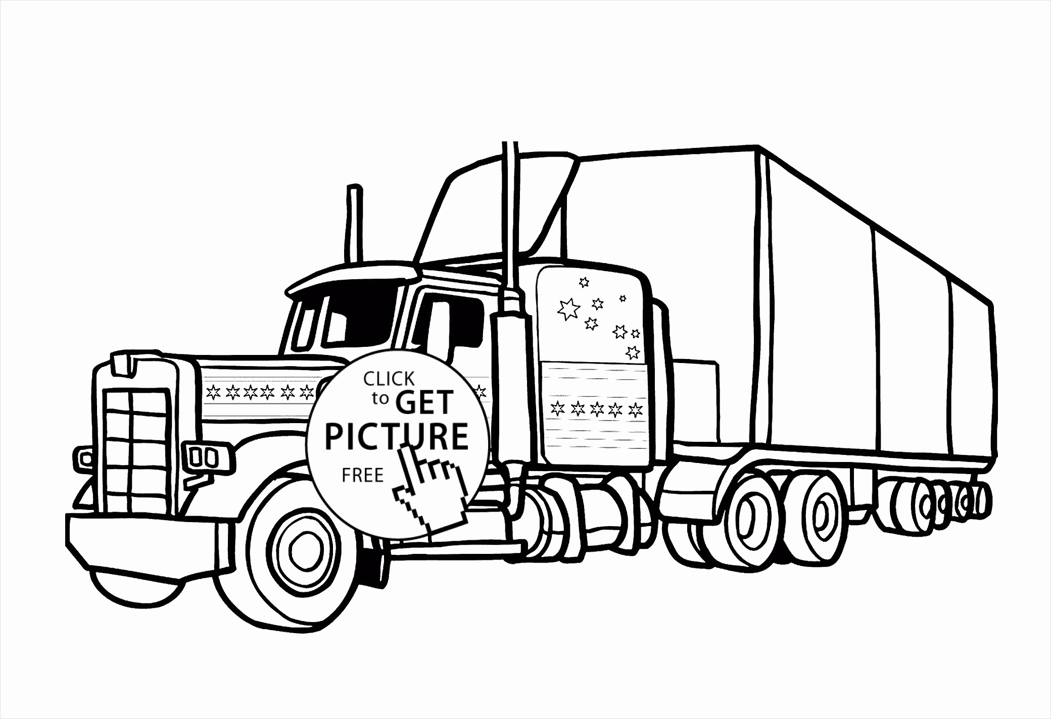 Tractor Trailer Coloring Pages  Download 12e - Free Download
