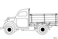 Truck and Trailer Coloring Pages - Classic Truck Coloring Page