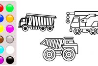 Truck and Trailer Coloring Pages - Dump Truck and Crane Truck Colouring Pages Construction Truck