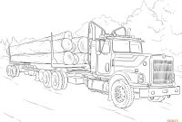 Truck and Trailer Coloring Pages - Log Truck Coloring Page